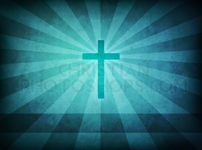 Blue cross background