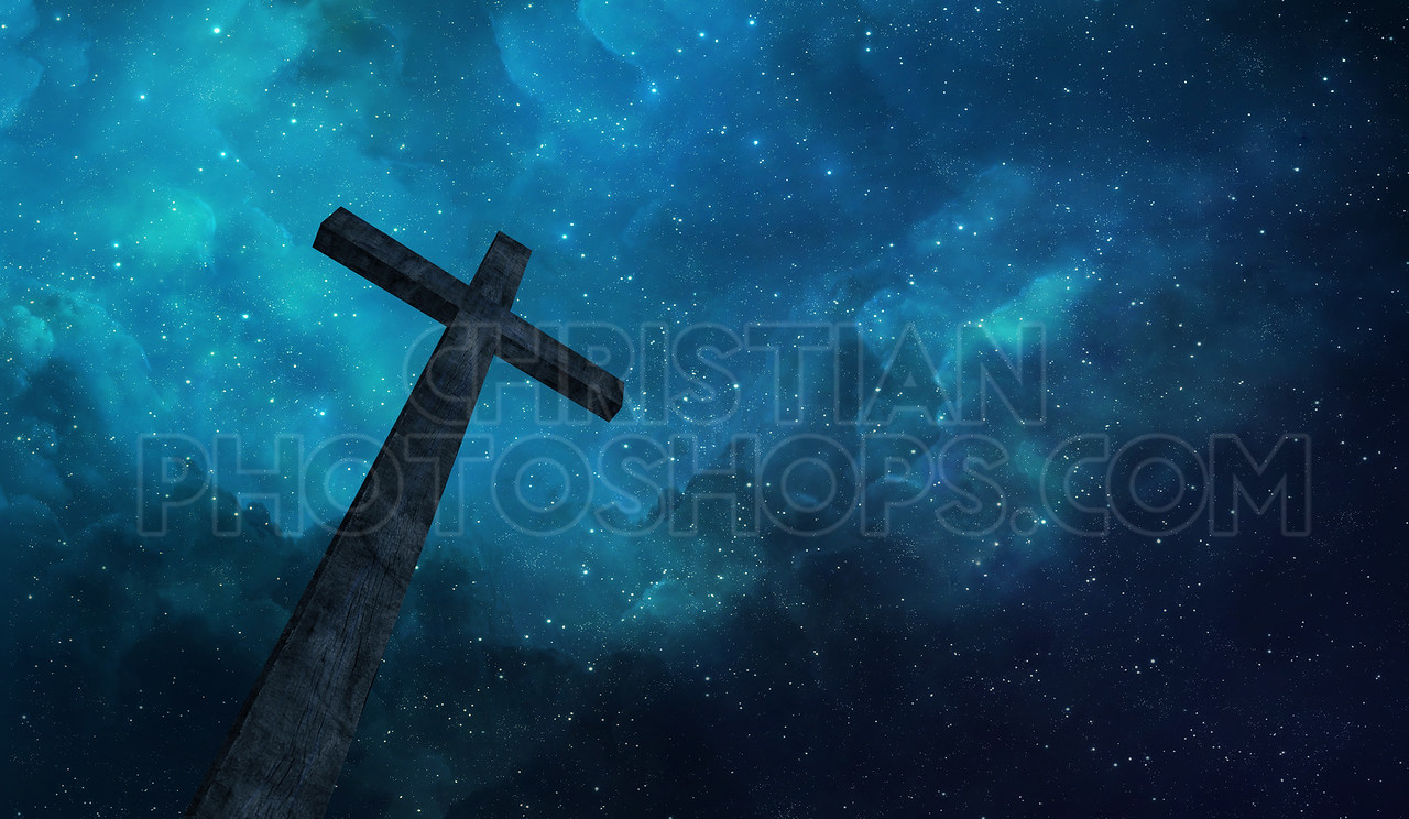 Cross and night sky