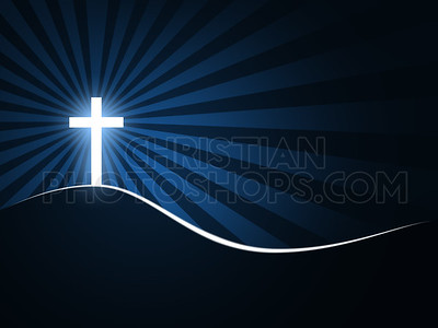 White cross background