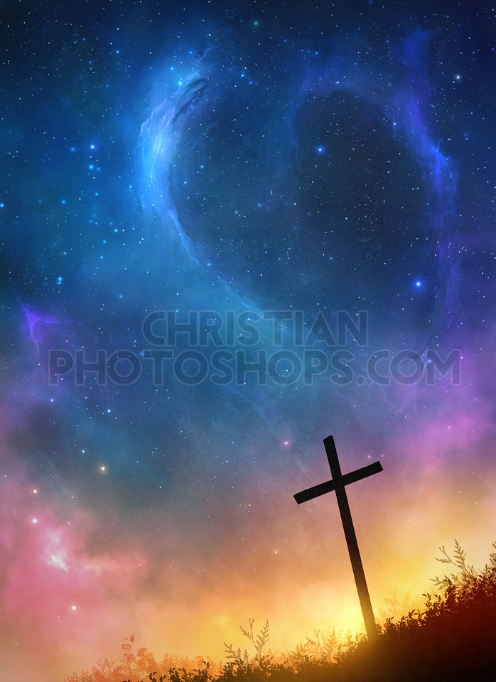 Cross and stars