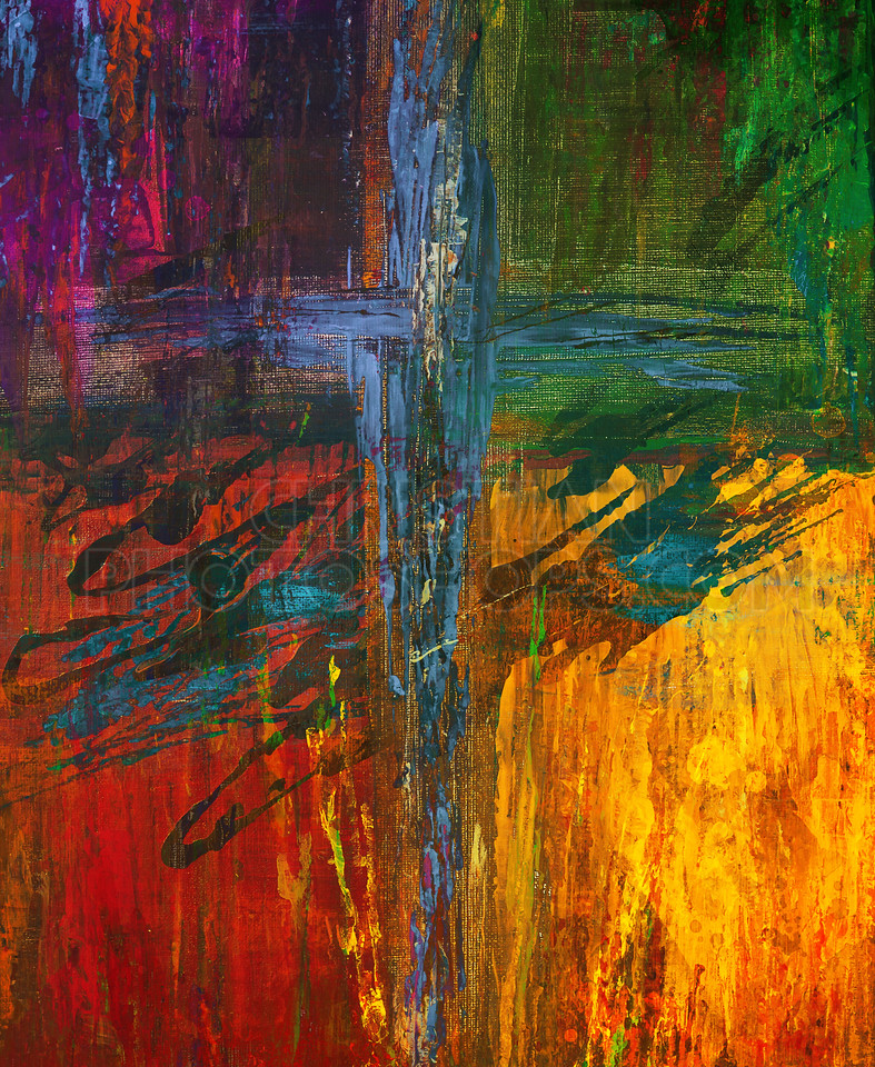 Colorful painted cross