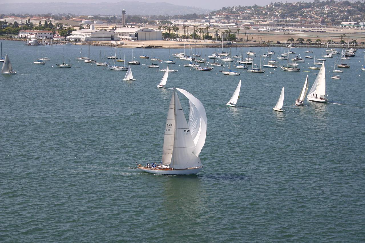 Real busy harbor...tons of sail boats.