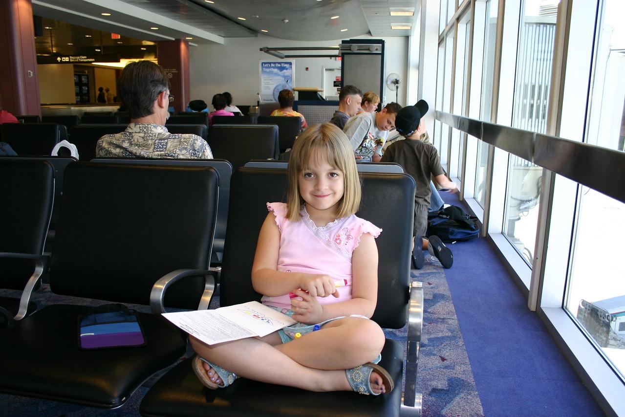 Waiting at the airport (Las Vegas).