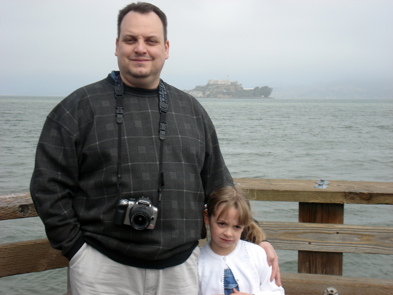 Me and Lauren in front of Alcatraz. Two trips to SF and I still haven't made it over there yet.