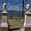 Anna's stone is on the left, with her husband's at the right. These photos are as seen on Findagrave.