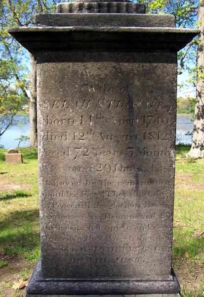 Inscription on Anna's gravestone