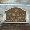 Bronze marker affixed to Anna's gravestone