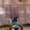 Closeup of the inscription on Tallmadge's grave marker
