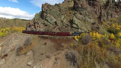 2 Second train travels across Windy Point at 10,000 feet-short version