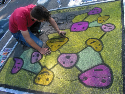 Local festival activity - chalk art.