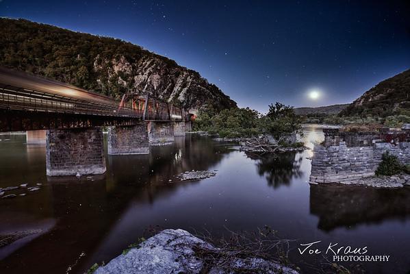 Moonrise over Harpers Ferry Enhanced