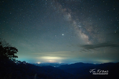 Galactic Core over the Pinnicles Overlook
