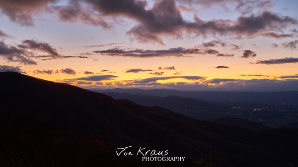 Sunset over Shanandoah Mountains II
