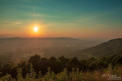 Skyline Drive HDR Sunset