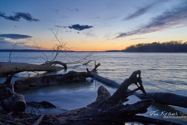 Sunset Looping Logs III