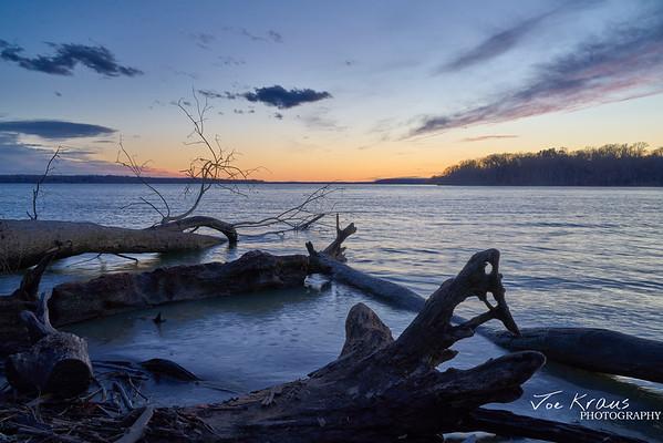 Sunset Looping Logs II