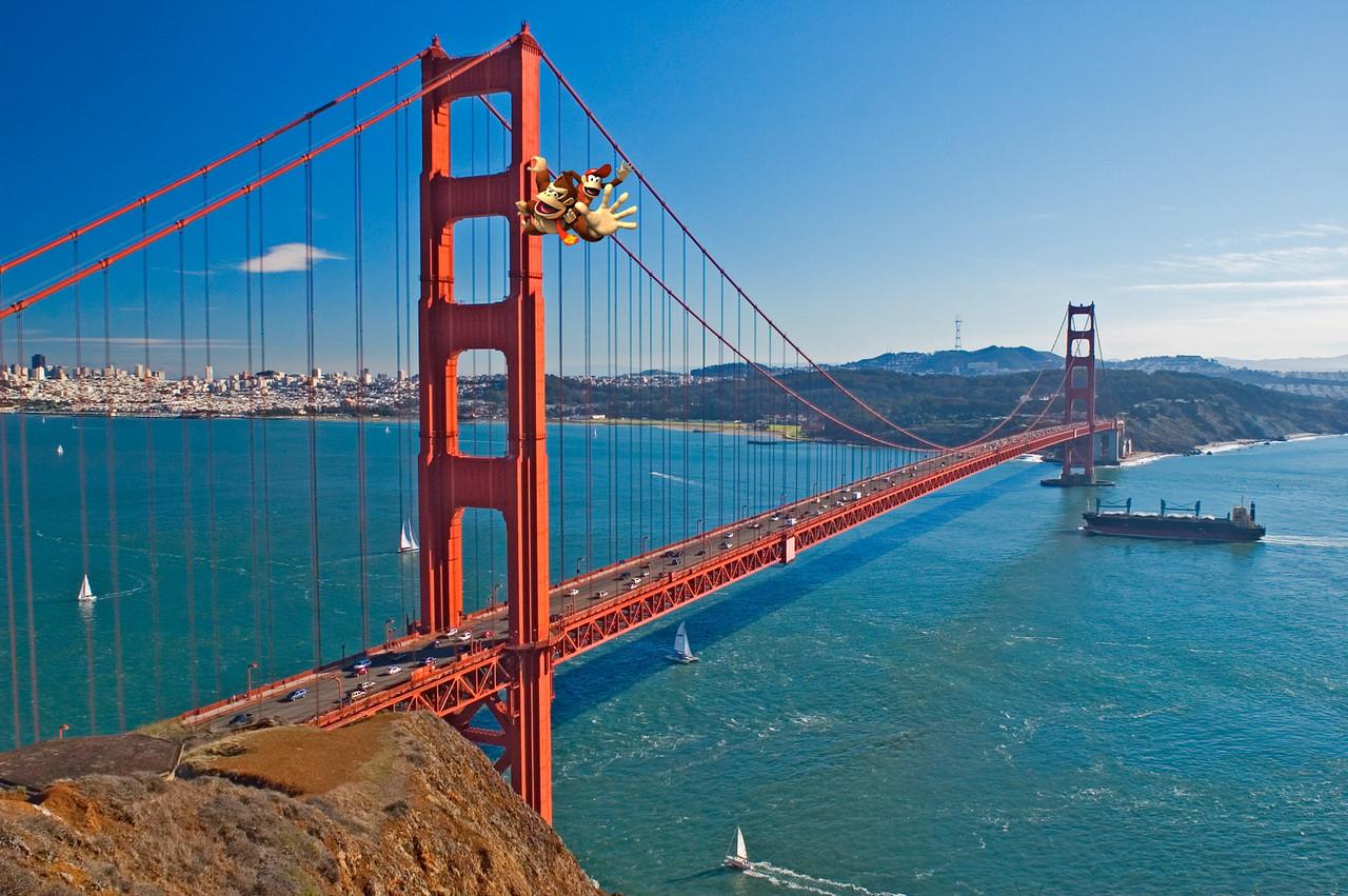 Golden Gate bridge view, San Francisco