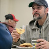 The Daily Bread has been serving up breakfast for the past 10 years at the Pilgrim Congregational Church in Leominster. Enjoying the breakfast is Mark McGrath. SENTINEL & ENTERPRISE/JOHN LOVE