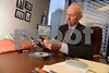 04.29.13- Baltimore, MD- Francis J. Gorman, P.C., with Gorman & Williams, shown here with some computer disks that have some data files that were recoverd for the use in a civil case. (Maximilian Franz/The Daily Record)