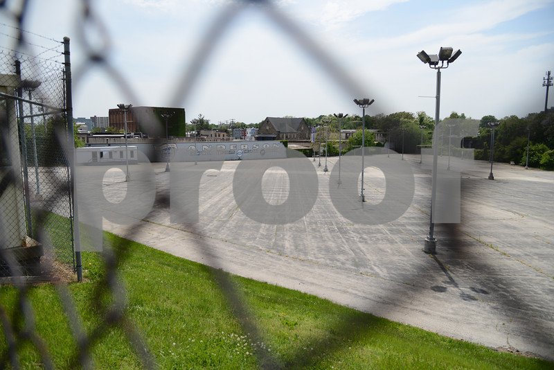 05.16.13- BALTIMORE, MD- The former Anderson Automotive lot that is under a new development contract. (Maximilian Franz/The Daily Record)