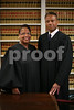10.12.10 BALTIMORE, MD.  Orphans' Court for Baltimore City Chief Judge Joyce M. Baylor-Thompson, left, and Judge Lewyn Scott Garrett Tuesday Oct. 12, 2010. (The Daily Record/Rich Dennison)