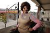 10.24.2011-BALTIMORE, MD- Johnette Richardson, Execuive Director of Belair-Edison Neighborhoods, Inc. Photo of her outside of their office at3412 Belair Road, showing the surrounding Main Street on Belair Rd.  (The Daily Record/Maximilian Franz).