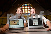 09.19.13 BALTIMORE, MD- L and R- Win Smith and Henry Blue, Co- Founders of Alchemy Learning, shown here with laptops displaying their new Alchemy Smart Binder Software. (Maximilian Franz/The Daily Record)