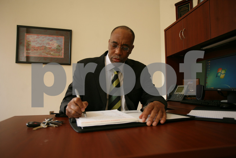 05.12.11 BALTIMORE, MD.  Vernon R. Herron, senior policy analyst for the University of Maryland Center for Health and Homeland Security in his Baltimore, Md. office Thursday May 12, 2011. (The Daily Record/Rich Dennison)