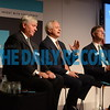 4.26.17 OWINGS MILLS, MD- Photo during the 2017  T. Rowe Price Annual Stockholders Meeting. Seated from right, Brian Rogers, Bill Stromberg, and Ed Bernard. (Maximilian Franz/The Daily Record)