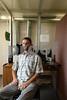 BALTIMORE, MD-Ryan Vandrey, Associate Professor, Dept of Psychiatry and Behavioral Sciences Johns Hopkins University School of Medicine, seen here in their marijuana smoke research rooms. (The Daily Record/Maximilian Franz)