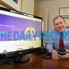 1-3-18 Towson, MD-Herbert Burgender III, attorney with PK Law,  who uses the TALI app though Amazon Echo to track his billable hours, a task that's a huge pain for many attorneys in private practice.   (The Daily Record/Maximilian Franz)