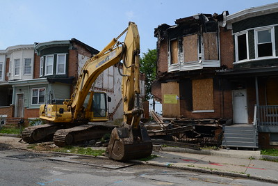 7-1-16 BALTIMORE, MD- The Coldstream Homestead Montebello neighborhood is surrounded by a golfcourse, lake and good schools, but it has still been one of the most blighted neighborhoods in Baltimore. Photos taken on a visit to the neighborhood for a story on demolition of vacant homes.  (The Daily Record/Maximilian Franz)