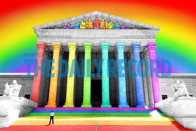 Supreme Court Washington DC SCOTUS RAINBOW 05MF