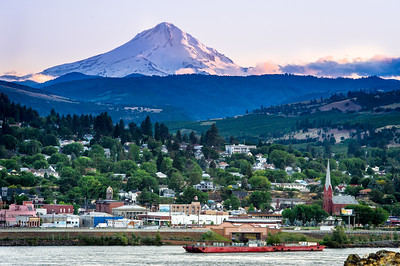 Mt. Hood towers over The Dalles