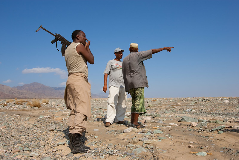 Trying to find the way to Dallol. To bring armed guards are required in this area.