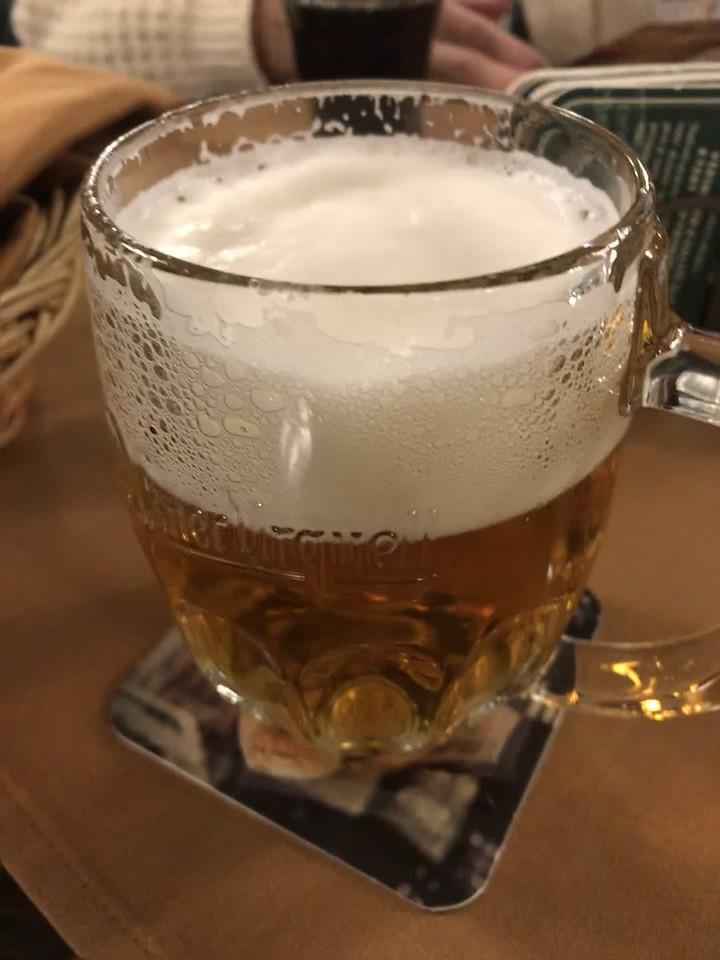 Ah, my long awaited glass of European beer.