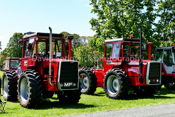 Peter Houseman's M/F 1200 & 1250 tractor's at Newby Hall tractor fest nr Ripon.