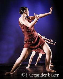 Receeding dancers
