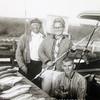 Captain Jesse Etheridge, Sr. (of the Cardwyn) and Charlie Midgett