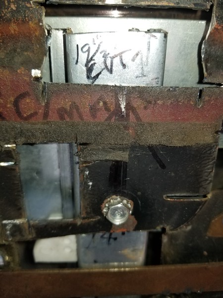 """For a '49 thru '51 Ford door, the rail should be cut down/shortened so that the full (Total) length of the rail is 19-1/2"""" long. The final location of this mounting bolt is determined by rolling the window all the way down so that the top of the glass is at or slightly below the lower sill."""