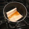Boiling the twill in Lipton tea makes it perfectly match the 40 year old originals.
