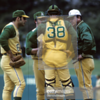 Clearly the same jersey from this photo match. Look at the distortion of the shape of the lettering, caused by the wearing of catchers' equipment for so many hours.
