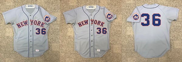 Here is the finished result... the first photo is the jersey without the blending powder applied, the second simulates what it would have looked like had I done the whole front with the blending, the third is the unchanged back of the jersey with Koosman's number 36.   This jersey is ready for display at CitiField during the 2020 season.