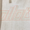 This tracing roughly shows us where the original lettering was sewn.