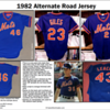 Referring to my Game Worn Guide, we see that the MLB Mets' jerseys of 1982 were made by Rawlings, and can see how the name and numbers are supposed to look. They are the Mets-standard athletic block font.