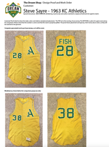 The first thing I do, ALWAYS, is to create and send a proof of a mock-up of the final job. By superimposing my artwork onto the jersey, it allows my clients to approve the art, and tweak anything they want changed. Zero rework is my goal, every time.   In this case, Steve gave me the go ahead without any changes.