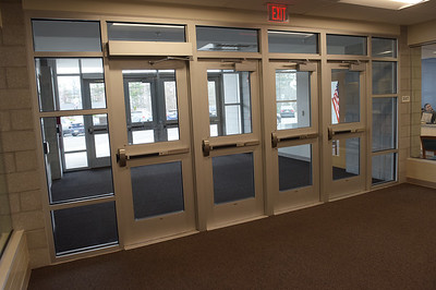 TIM JEAN/Staff photo  Two sets of security doors where installed at Salem High School with the recent school remodeling project. Schools across the country have inproved safety measures after the shootings at Columbine High School in Littleton, Colorado on April 20, 1999.    4/19/19