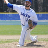 TIM JEAN/Staff photo<br />   <br /> Salem pitcher Andrew Shumski throws a pitch during a baseball game against Nashua South High School. Shumski pitched a complete game for Salem who won 6-4.   4/24/18