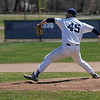 TIM JEAN/Staff photo<br />   <br /> Phillips Academy's Travis Lane, of Georgetown, throws a pitch during a baseball game against Worcester Academy. 4/21/18