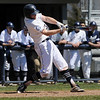 TIM JEAN/Staff photo<br />   <br /> Phillips Academy's Tristan Latham, of North Andover, drives the ball for a hit during a baseball game against Worcester Academy. 4/21/18